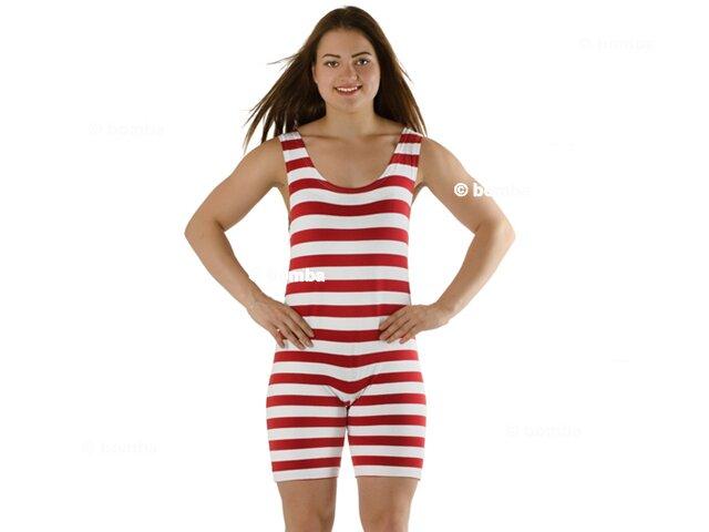 64468d61874 Dámské retro plavky červeno-bílé - velikost XXL